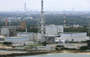 日本原子力発電の東海第2原発=3日、茨城県東海村(共同通信社ヘリから)