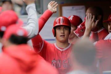 復帰後2試合目でマルチ安打を記録したエンゼルス・大谷翔平【写真:AP】