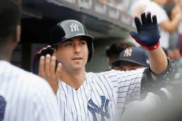 自身キャリア3本塁打目を放ったヤンキースのカイル・ヒガシオカ【写真:Getty Images】