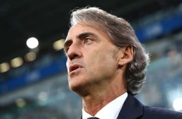 イタリア代表を指揮するマンチーニ photo/Getty Images