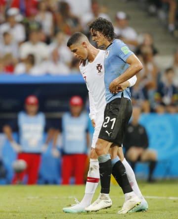 Football: Uruguay vs Portugal at World Cup