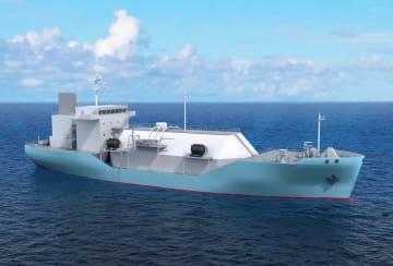 川崎重工業が建造するLNG燃料供給船のイメージ(同社提供)