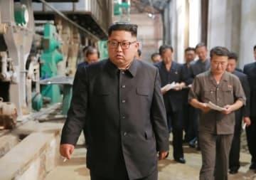 北朝鮮の金正恩朝鮮労働党委員長(提供:KNS/KCNA/AFP/アフロ)