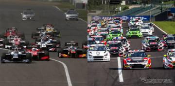 全日本スーパーフォーミュラ選手権(左)とワールド・ツーリングカー・カップ