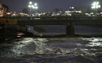 Heavy rain in western Japan