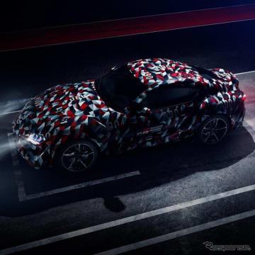 トヨタモーターヨーロッパが公式Twitterで配信したティザーイメージ。GRスープラ・レーシングコンセプトとは異なる新型スープラの姿が見える
