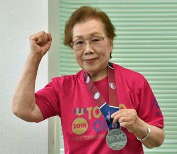 銀メダルを獲得し、喜びを語る渡辺さん
