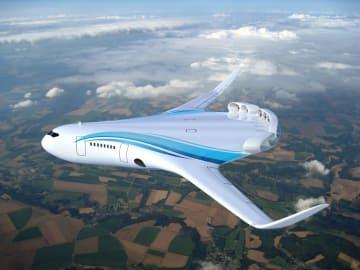 電気旅客機の想像図(JAXA提供)