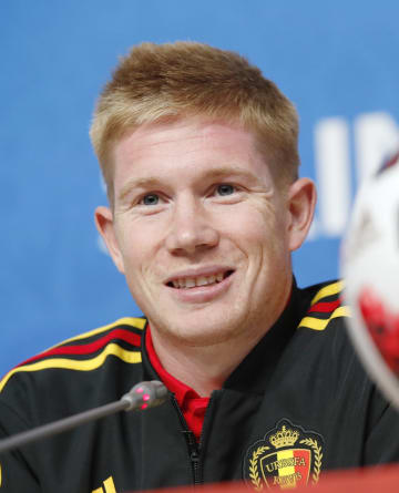 Football: Kevin De Bruyne of Belgium