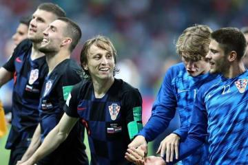 PK戦の末にロシア代表を破ったクロアチア代表の面々 photo/Getty Images