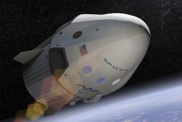 スペースXが開発するドラゴン宇宙船の想像図(同社提供・共同)