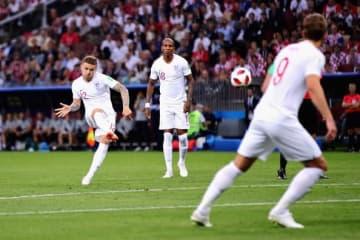 開始早々5分、トリッピアーの直接FKがクロアチアゴールに突き刺さった photo/Getty Images