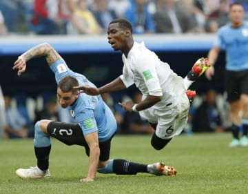 Football: Uruguay vs France at World Cup