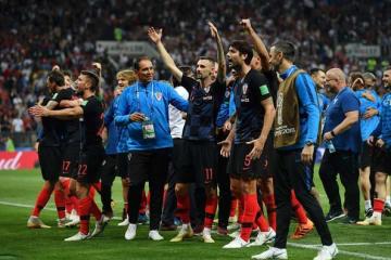 決勝へ進出したクロアチア代表 photo/Getty Images