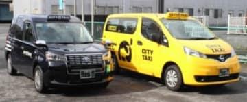 県内で増加しているユニバーサルデザインタクシー。「ゆったりとした快適な空間で移動してほしい」と県タクシー協会=大分市