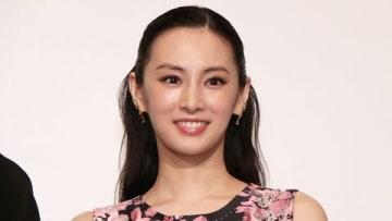 映画「パンク侍、斬られて候」の大ヒット御礼舞台あいさつに登場した北川景子さん