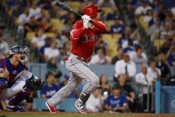 9回に代打で登場し、二塁打を放ったエンゼルス・大谷翔平【写真:AP】