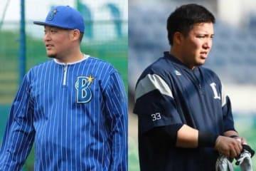 両リーグの4番を務めるDeNA・筒香(左)、西武・山川【写真:荒川祐史】