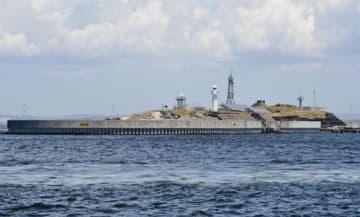 東京湾に浮かぶ要塞「第二海堡」=富津市
