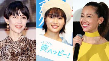 (左から)木村佳乃さん、広瀬すずさん、沢尻エリカさん