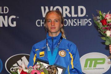 出産を経てマットに復帰したソフィア・マットソン=写真は2015年世界選手権