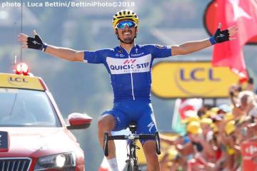 ツール区間初優勝を果たしたフランスのアラフィリップ (©Bettiniphoto)