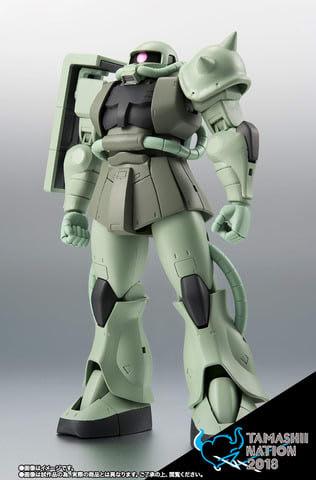 「TAMASHII NATION2018 -青の衝撃-」の開催記念商品の「ROBOT魂<SIDE MS>MS-06 量産型ザク ver. A.N.I.M.E.~ファーストタッチ2500~」(C)創通・サンライズ