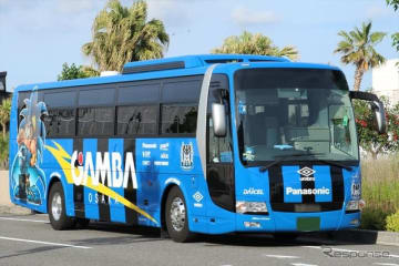 選手移動用バス