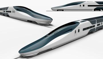アニメ映画「未来のミライ」に登場する「未来の新幹線」のデザイン(川崎重工業提供)