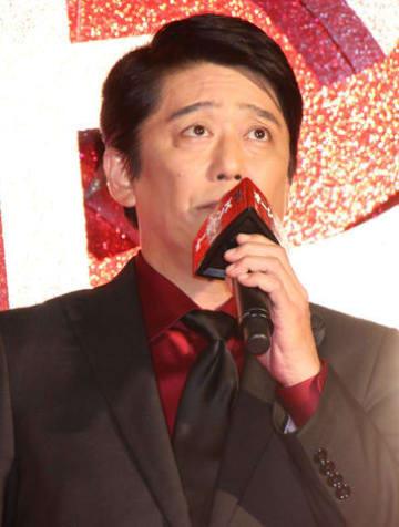 映画「オーシャンズ」シリーズの最新作「オーシャンズ8」の完成披露試写会に登場した坂上忍さん