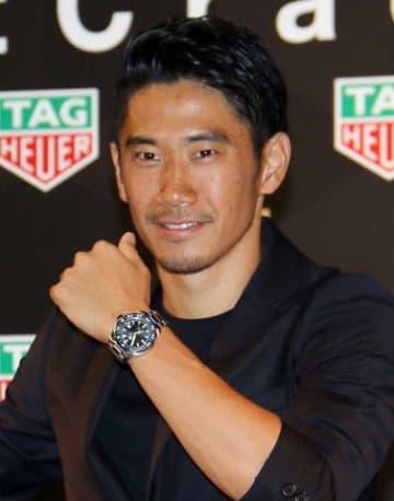 「タグ・ホイヤー」のスペシャルトークイベントに出席した香川真司選手