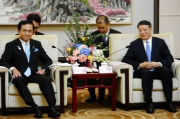 中国東北部の遼寧省を訪問中の黒岩祐治知事
