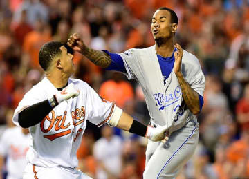 Orioles' Manny Machado Punches Royals' Yordano Ventura, Brawl Ensues