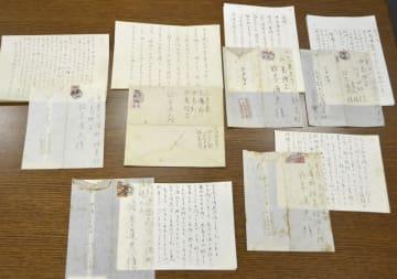 新たに見つかった作家三島由紀夫の書簡=21日、山梨県山中湖村の三島由紀夫文学館