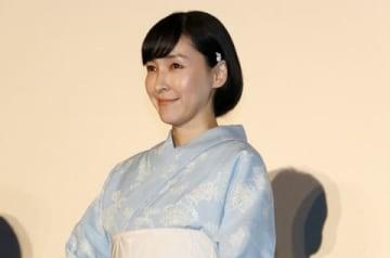 劇場版アニメ「未来のミライ」公開初日舞台あいさつに登場した麻生久美子さん