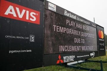 バーバソル選手権の最終ラウンドは悪天候により翌日に順延となった Photo by Andy Lyons/Getty Images