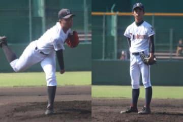 龍谷大平安・小寺(左)と乙訓・川畑【写真:沢井史】