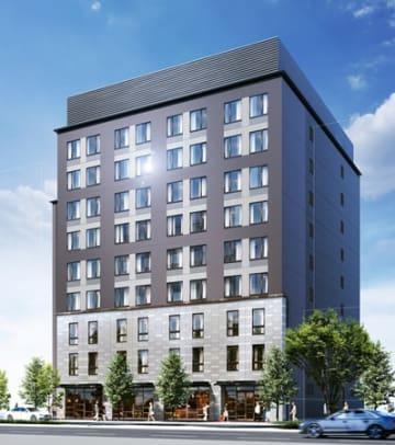 三井不動産が開発する京都市下京区五条烏丸の新ホテルの完成イメージ図