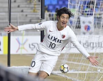Football: Kashima Antlers' Kanazaki