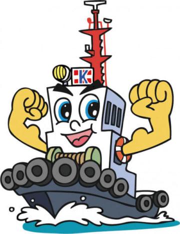 海洋曳船が創業40周年を記念して制作したタグボートイメージキャラクター