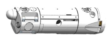東京電力福島第1原発1号機の調査に使われるボート型ロボットのイメージ図