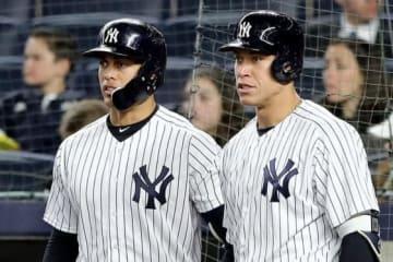 ヤンキースのスタントン(左)とジャッジ【写真:Getty Images】