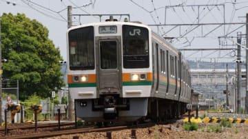 211系電車 東海道本線 菊川駅 211系