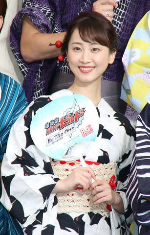 映画「劇場版 仮面ライダービルド Be The One」の完成披露イベントに登場した松井玲奈さん