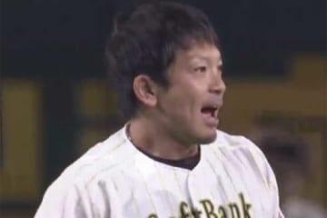 10回、サヨナラ打を放ったホークス・松田【画像:(C)PLM】