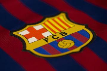 バルセロナのクラブロゴ(ゲッティ=共同)