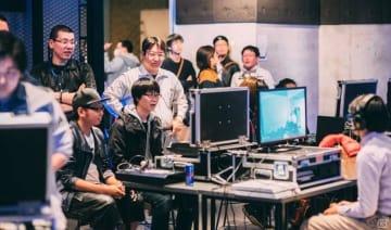会場となるRed Bull Gaming Sphere Tokyoでのイベントの様⼦