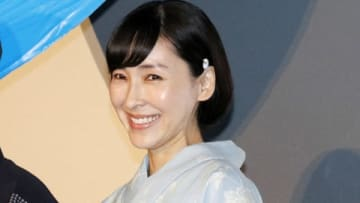 劇場版アニメ「未来のミライ」の初日舞台あいさつに登場した麻生久美子さん