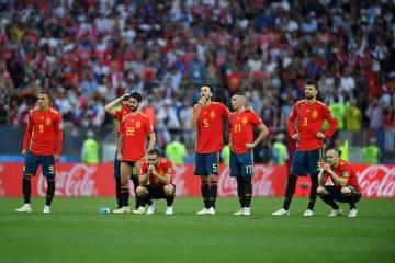 ロシアW杯ベスト16で姿を消したスペイン代表 photo/Getty Images