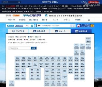 朝日新聞社×朝日放送「バーチャル高校野球」 各地方大会の結果と代表校の一覧